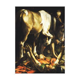 Conversión de Caravaggio de San Pablo Lona Envuelta Para Galerias