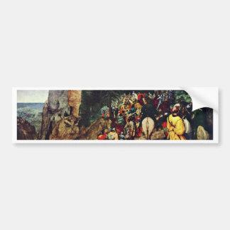 Conversión de San Pablo por Bruegel D Ä Pieter Etiqueta De Parachoque