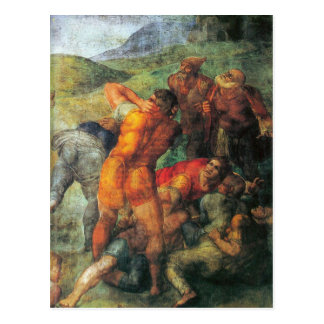 Conversion of Paul detail by Michelangelo Postcard