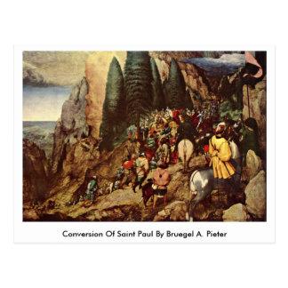 Conversion Of Saint Paul By Bruegel A. Pieter Postcard