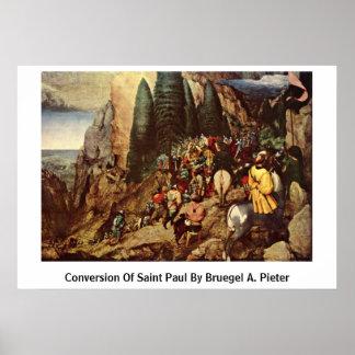 Conversion Of Saint Paul By Bruegel A. Pieter Poster