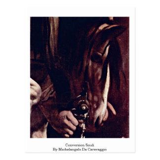 Conversion Sauli By Michelangelo Da Caravaggio Postcard