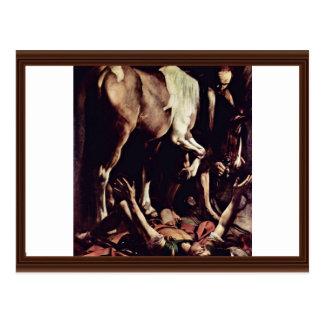 Conversion Sauli,  By Michelangelo Merisi Da Cara Postcard