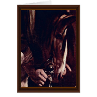 Conversion Sauli Detail By Michelangelo Merisi Greeting Card