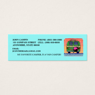 CONVERSION VAN CAMPING ~ INFO & PROFILE CARDS! MINI BUSINESS CARD