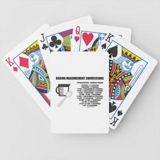 Conversiones de la medida de la hornada (medida) baraja cartas de poker