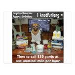 Conversiones olvidadas perro Knotfurlong del conoc Tarjetas Postales