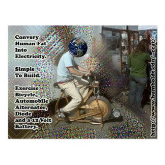 Convert Human Fat into Electricity postcard