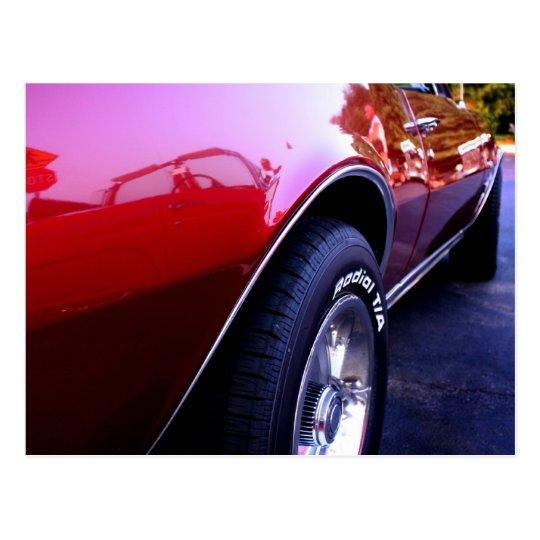 Convertable Camaro Postcard