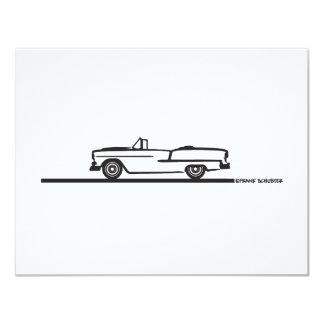 """Convertible 1955 de Chevy Invitación 4.25"""" X 5.5"""""""
