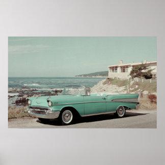 Convertible 1957 del Bel Air de Chevrolet Póster