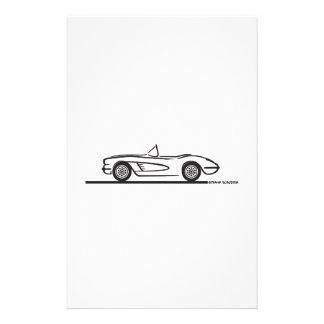 Convertible 1958 del Corvette Papeleria