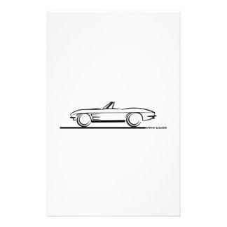Convertible 1963 del Corvette Papeleria
