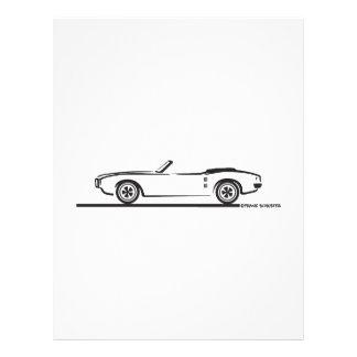 """Convertible 1968 de Pontiac Firebird Folleto 8.5"""" X 11"""""""