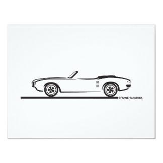 """Convertible 1968 de Pontiac Firebird Invitación 4.25"""" X 5.5"""""""