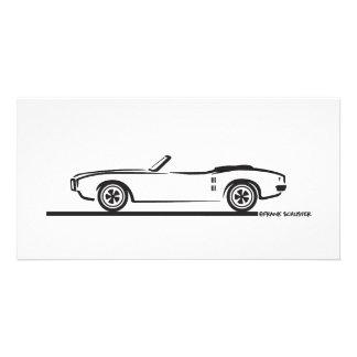 Convertible 1968 de Pontiac Firebird Tarjeta Fotografica