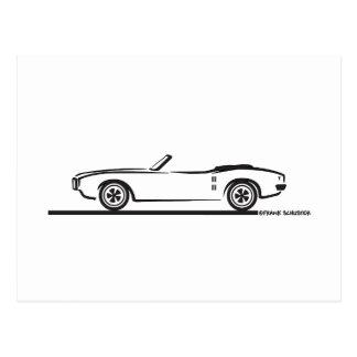 Convertible 1968 de Pontiac Firebird Postales