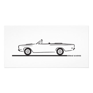 Convertible 1968 del Roadrunner de Plymouth Tarjeta Personal Con Foto