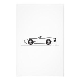 Convertible 1970-72 del Corvette Papeleria Personalizada