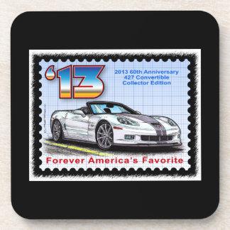 Convertible 2013 del aniversario del Corvette 60.o Posavasos