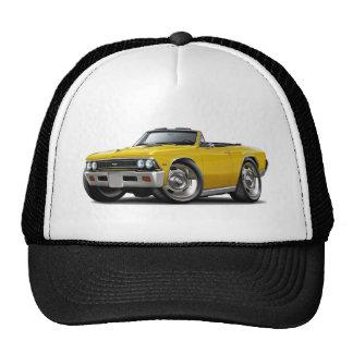 Convertible amarillo 1966 de Chevelle Gorras