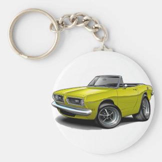Convertible amarillo 1967-69 del Barracuda Llavero Personalizado