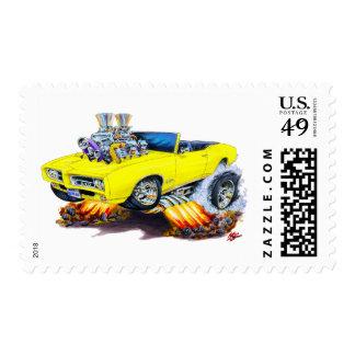 Convertible amarillo de 1969 GTO Sellos Postales