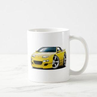 Convertible amarillo de Nissan 300ZX Taza De Café