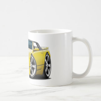 Convertible amarillo de Nissan 300ZX Tazas De Café