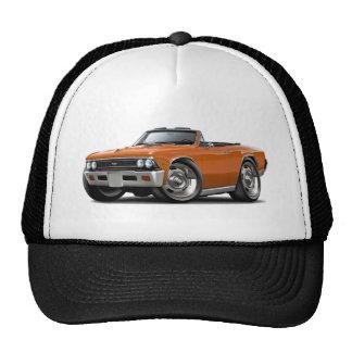 Convertible anaranjado 1966 de Chevelle Gorros Bordados