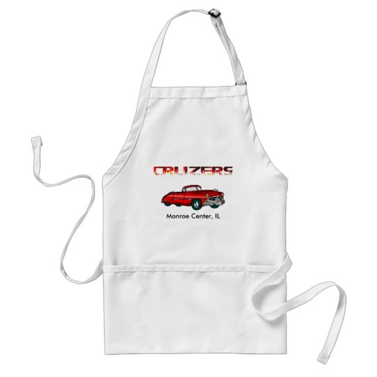 Convertible and Flames Adult Apron