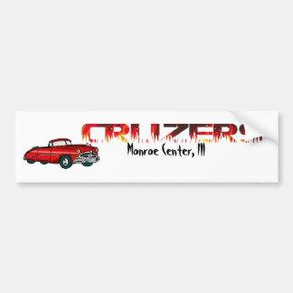 Convertible and Flames Car Bumper Sticker