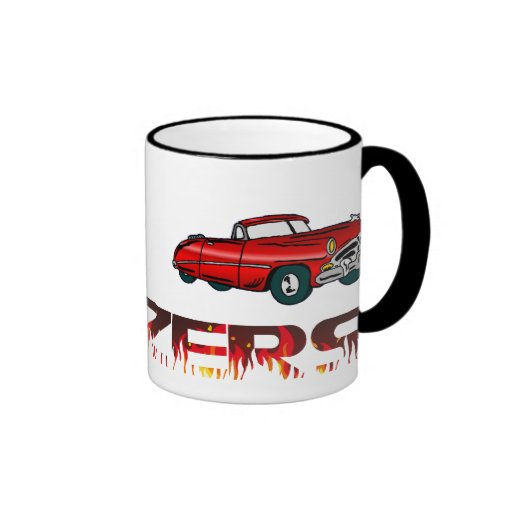 Convertible and Flames Coffee Mug