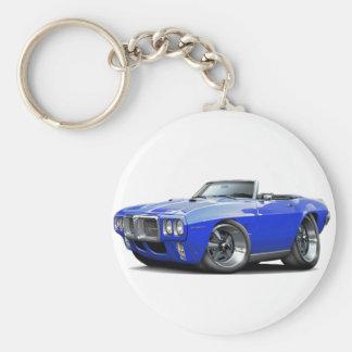 Convertible azul 1969 de Firebird Llaveros Personalizados