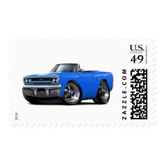 Convertible azul 1970 de Plymouth GTX Sello