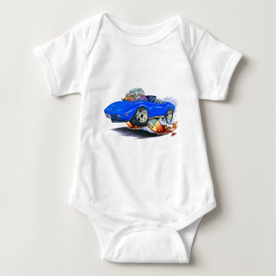 Convertible azul 1973-76 del Corvette Body Para Bebé