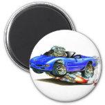 Convertible azul 1998-2004 del Corvette Imán Redondo 5 Cm