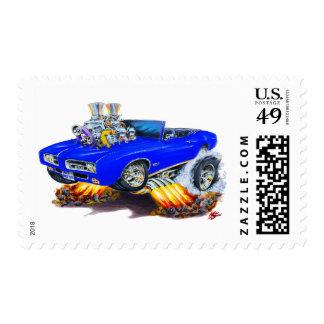 Convertible azul de 1969 GTO Franqueo