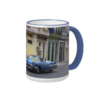 Convertible azul de Cuba Cadillac Taza De Dos Colores