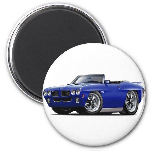 Convertible azul marino de 1970 GTO Imán Redondo 5 Cm