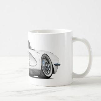 Convertible blanco 1962 del Corvette Taza De Café