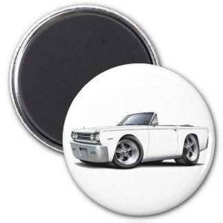 Convertible blanco 1967 del belvedere imán redondo 5 cm