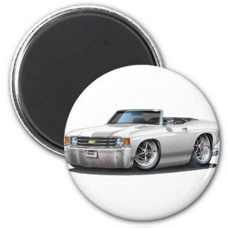 Convertible blanco 1971-72 de Chevelle Imán Redondo 5 Cm