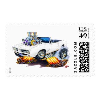 Convertible blanco de 1969 GTO Sellos Postales