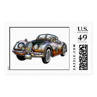 Convertible Classic Metallic Sports Car Postage