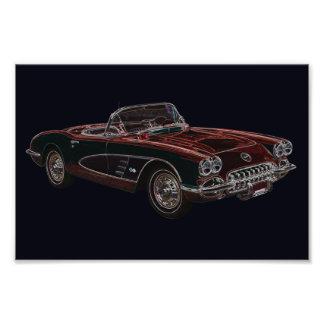 convertible de Chevrolet Corvette de los años 50 Fotografías