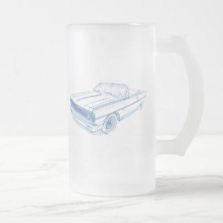 Convertible de Chevy Chevelle 1964 Taza Cristal Mate