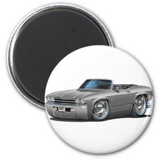 Convertible de plata 1969 de Chevelle Imán Redondo 5 Cm