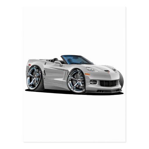 Convertible de plata 2010-12 del Corvette Tarjetas Postales