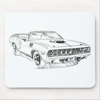 Convertible del Barracuda 1971 de la capa Alfombrilla De Raton